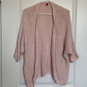 Oversized 3/4 Sleeve Knit Cardigan